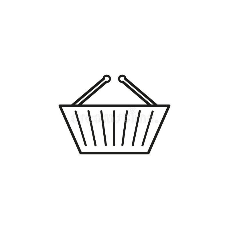 Korgen shoppar symbolen vektor illustrationer