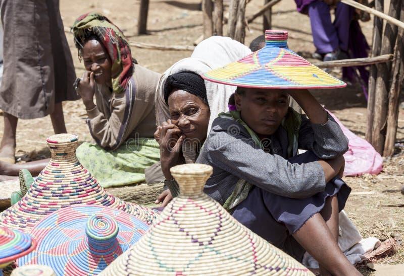 Korgsäljare, Etiopien arkivfoton