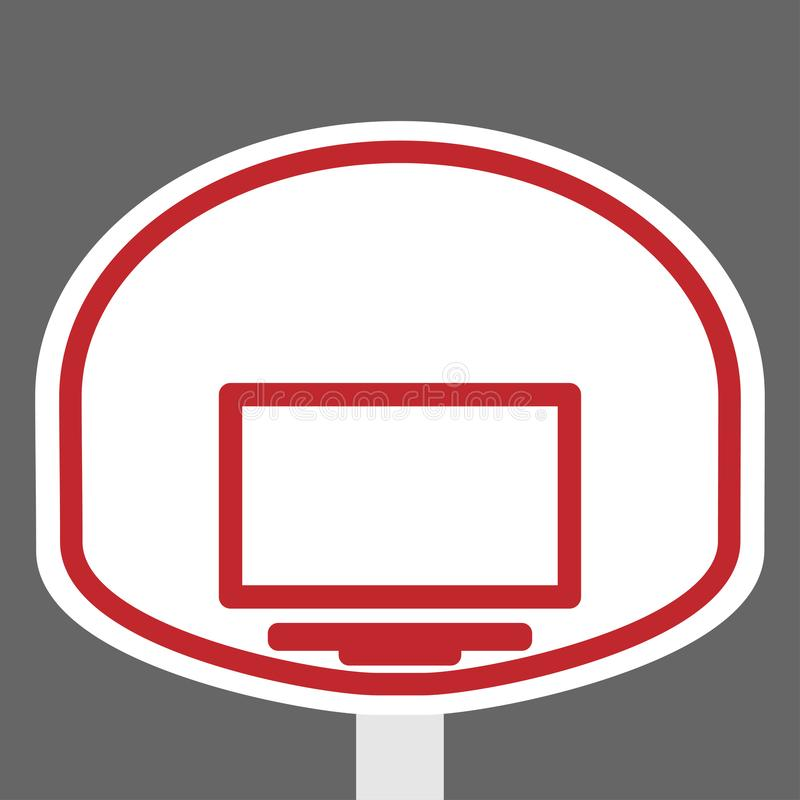 Korgsköld och cirkel för basketen vektor illustrationer