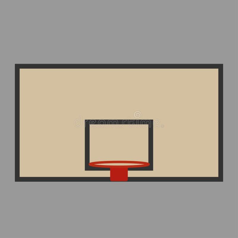 Korgsköld och cirkel för basketen stock illustrationer