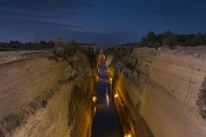 Korinth-Kanal lizenzfreies stockbild