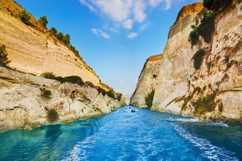 Korinth-Kanal in Griechenland lizenzfreies stockfoto