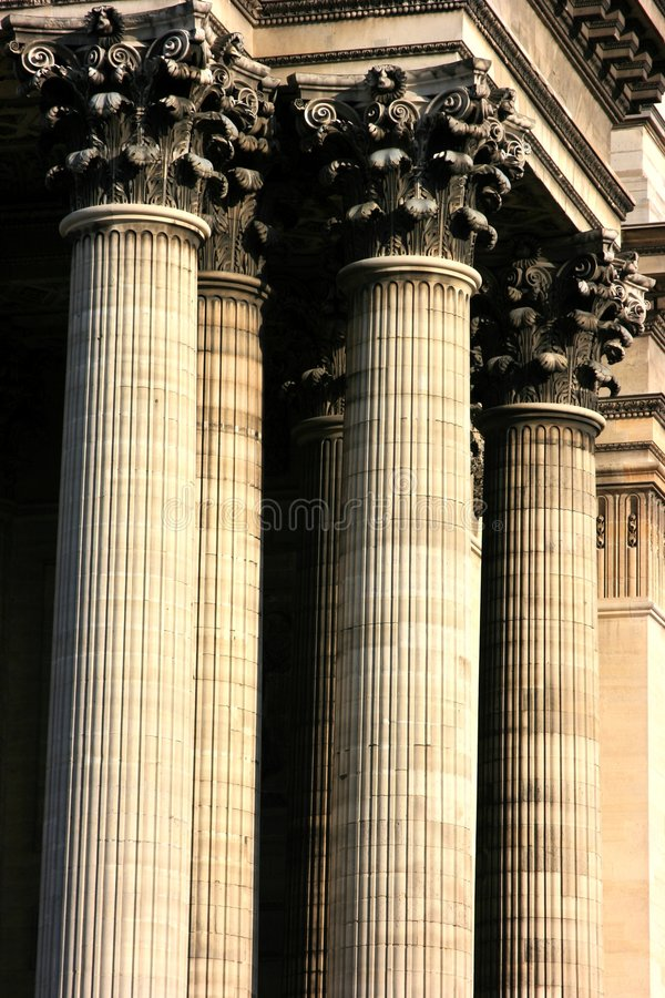 Korinthisches Kapitol stockfotos