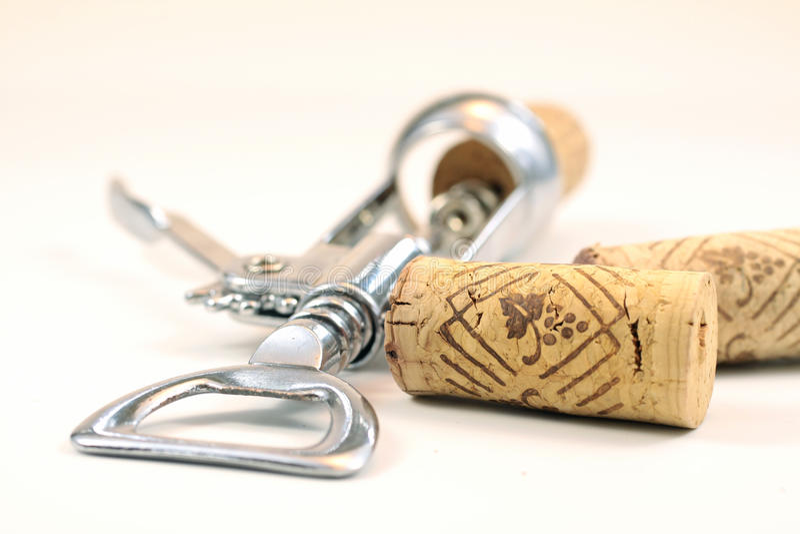 korka corkscrew zdjęcie royalty free