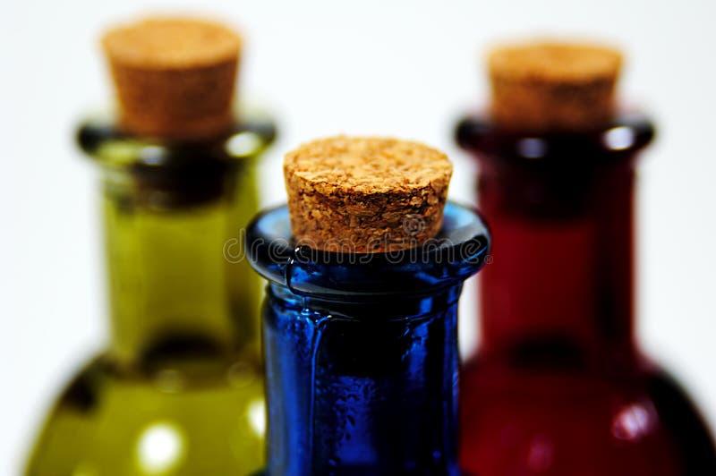 Download Korkade flaskor arkivfoto. Bild av begrepp, lagring, green - 26956