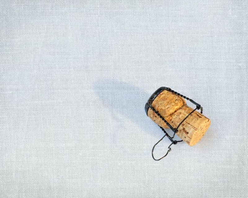Korken von einer Flasche Champagner stockfotos