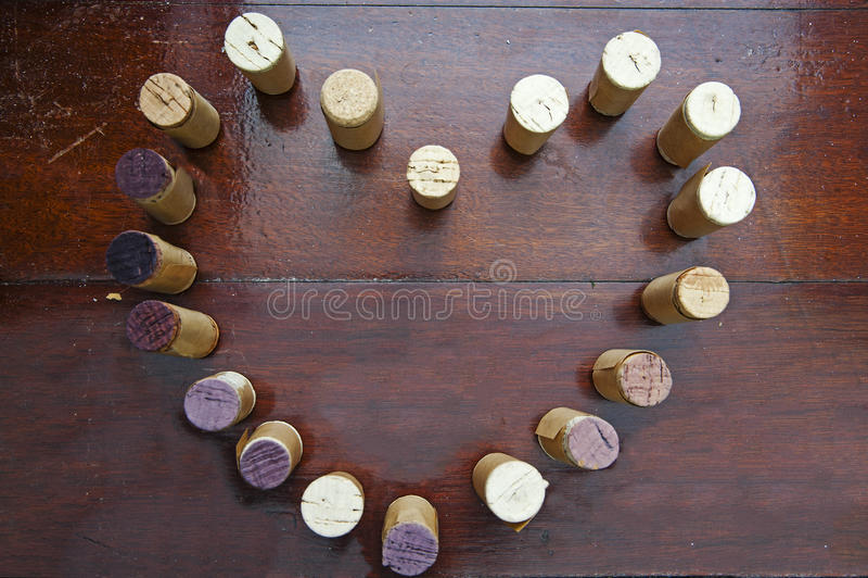 Korkenwein lizenzfreies stockbild