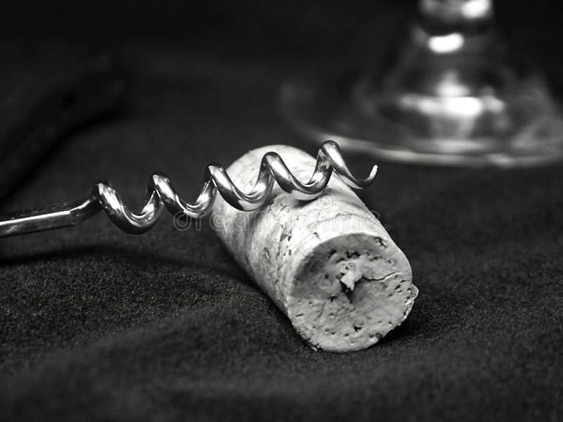 korkociąg obraz stock