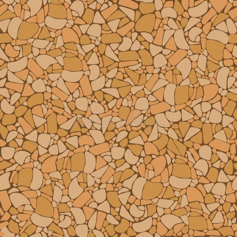 Korkowej deskowej tekstury bezszwowy wzór Korkowy deskowy tekstura wektor ilustracja wektor