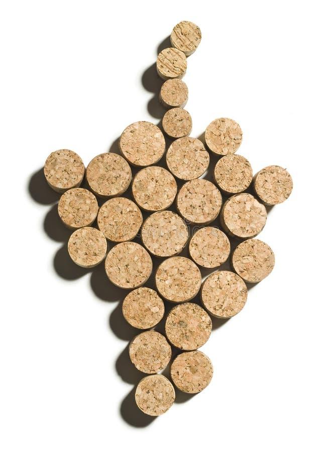korkowy winogrono fotografia stock