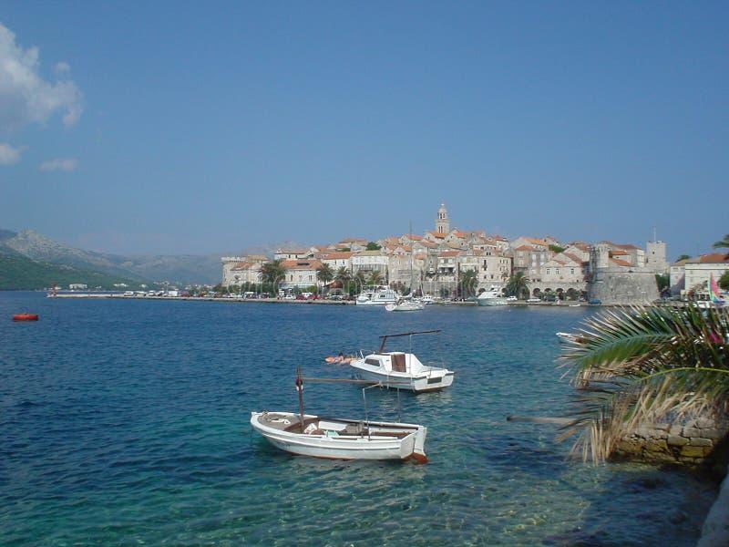 Download Korkula croatia obraz stock. Obraz złożonej z łodzie, niebo - 136575