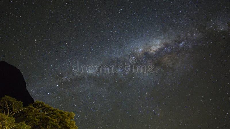 Korn eller för galaxstjärnor för oväsen milkyway sikt för kosmosbakgrund royaltyfria foton