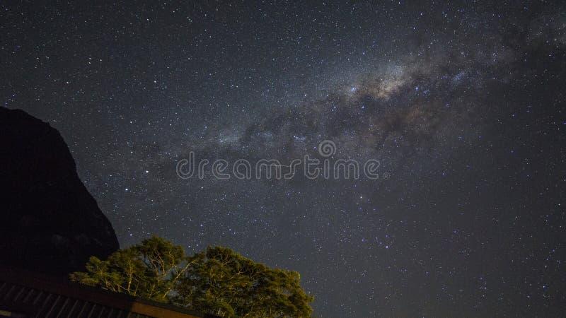 Korn eller för galaxstjärnor för oväsen milkyway sikt för kosmosbakgrund royaltyfri fotografi