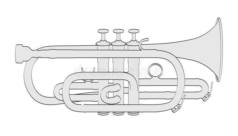 kornett royaltyfri illustrationer