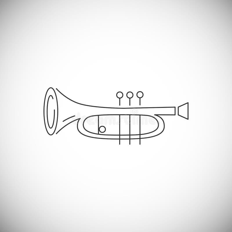 Kornett- eller hornsymbol som isoleras på vit bakgrund vektor illustrationer