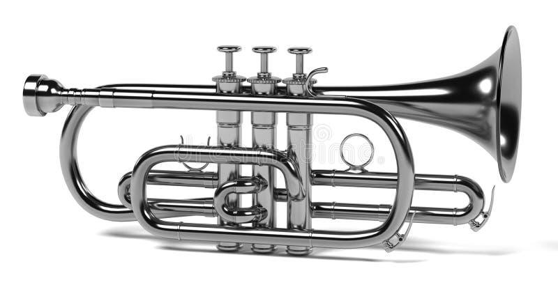 Kornettmusikinstrument vektor illustrationer