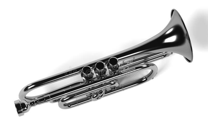 Kornettmusikinstrument royaltyfri illustrationer