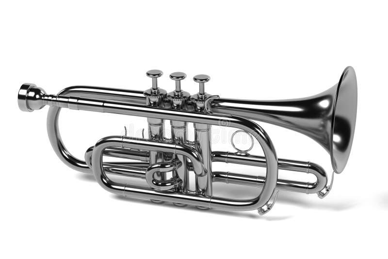 Kornettmusikinstrument stock illustrationer