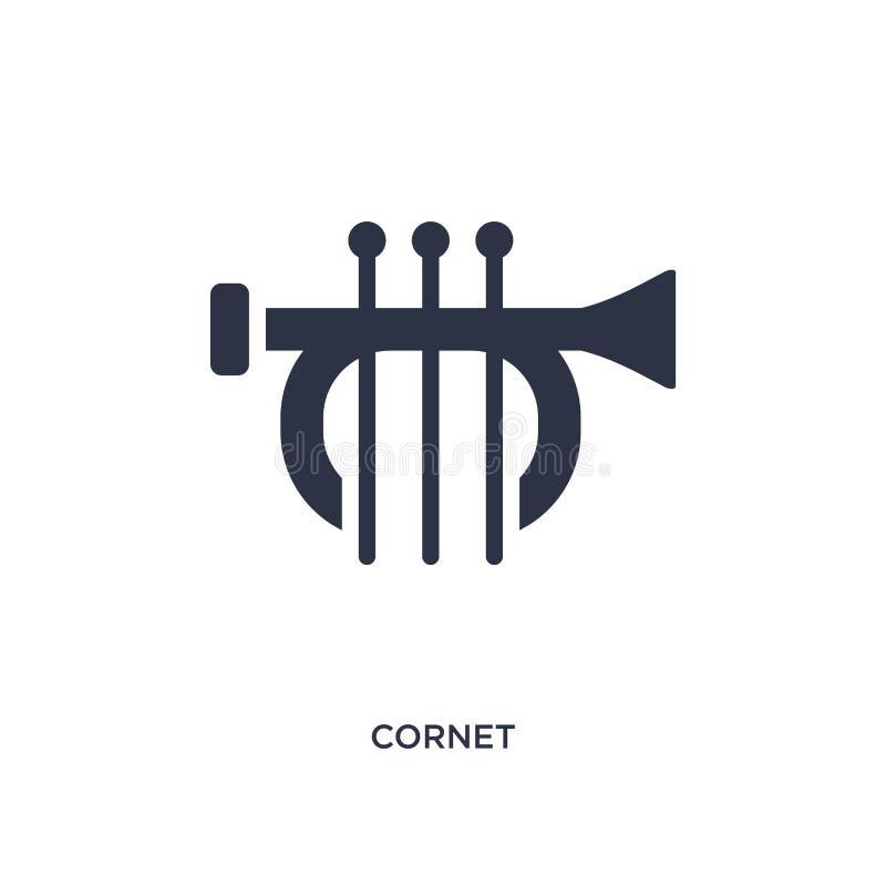 kornettsymbol på vit bakgrund Enkel beståndsdelillustration från musikbegrepp royaltyfri illustrationer