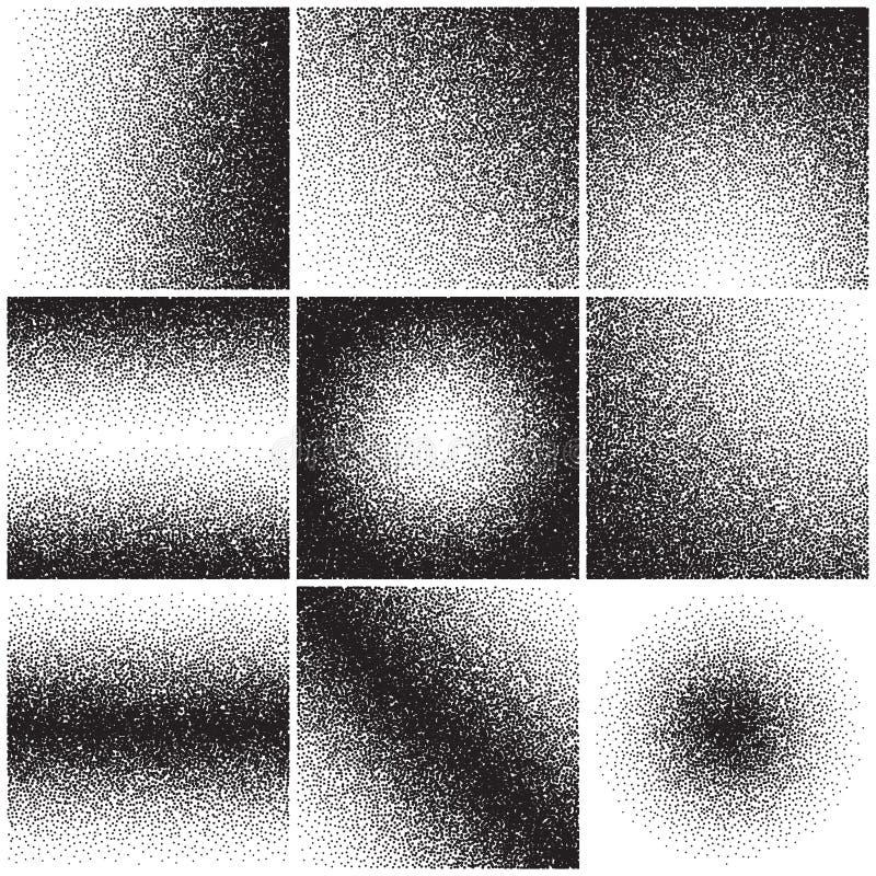 Korniga sandtexturer, oväsen, lantgårdlutning, smutsar ner bekymrad effekt bakgrunder ställde in vektorn stock illustrationer