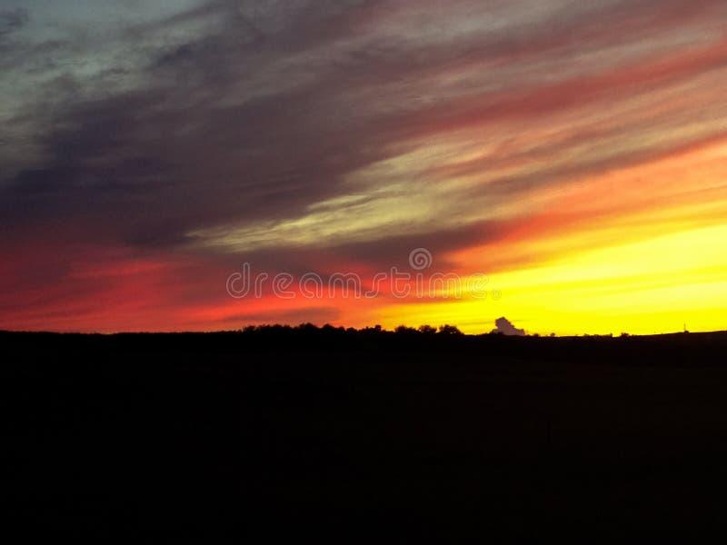 Kornischer Sonnenuntergang stockfotografie