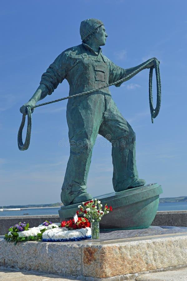 Kornwalijska rybak statua obrazy stock