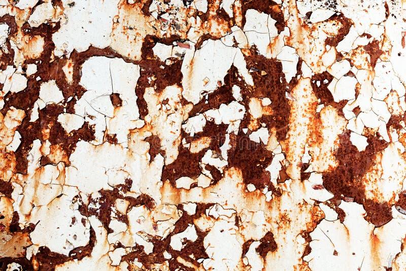 Korodujący białego metalu tło obraz royalty free