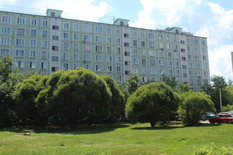 Korolyov går Kostino område Gorky gata arkivbild