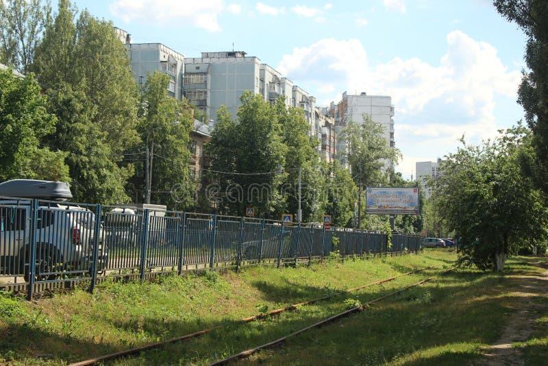 Korolyov går Kostino område Kommungata arkivfoton