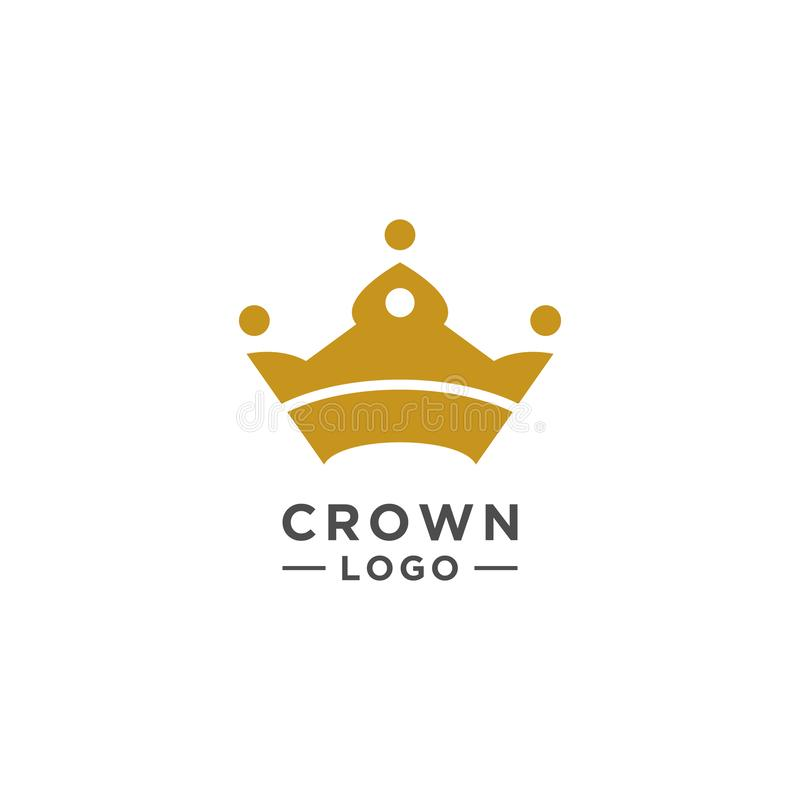 Korona logo projekta wektorowy elegancki styl ilustracji