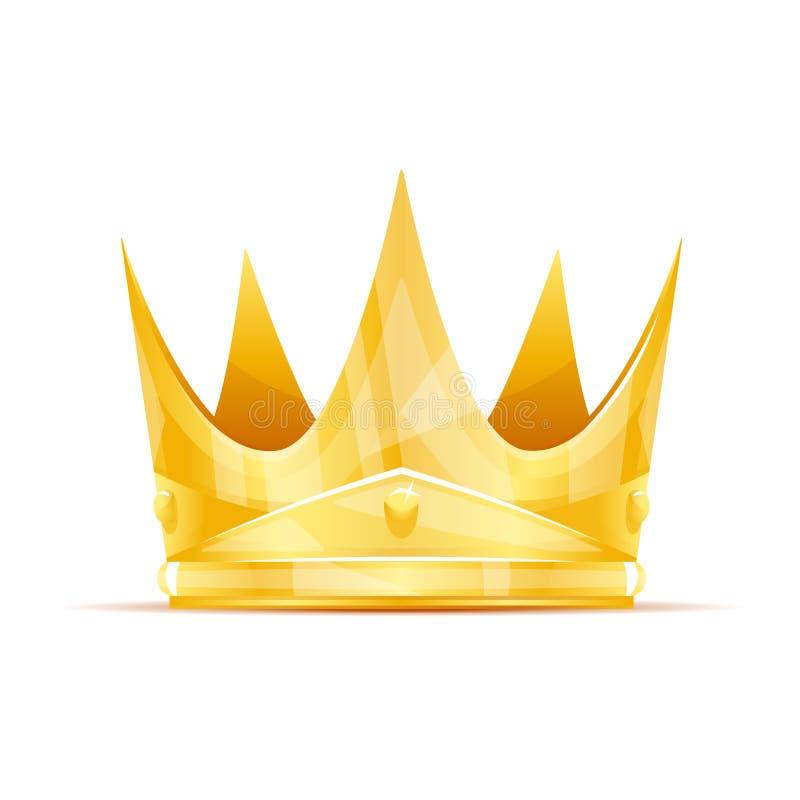 korona tła izolatów królowa white ilustracja wektor