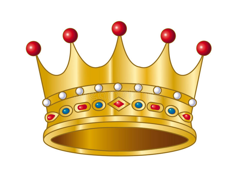 korona wektor royalty ilustracja