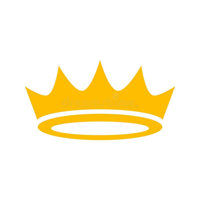 Korona wektoru ikona royalty ilustracja