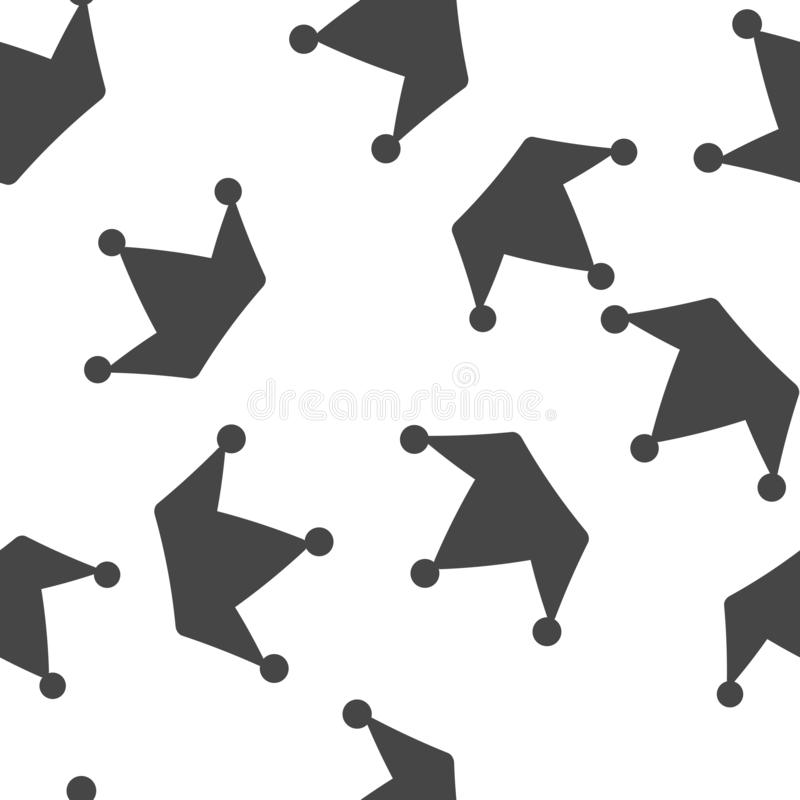 Korona wektoru ikona Symbol wielkość bezszwowy wzór na białym tle ilustracji