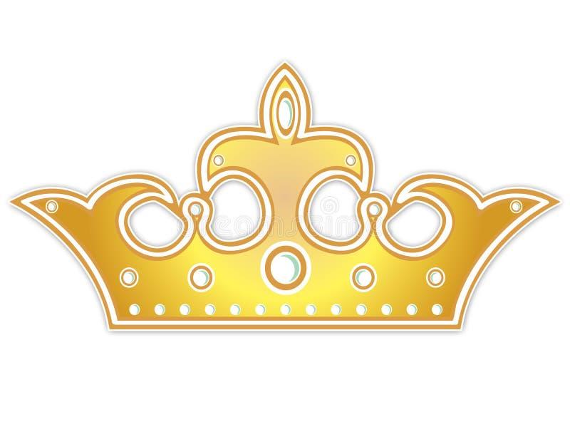korona złota royalty ilustracja