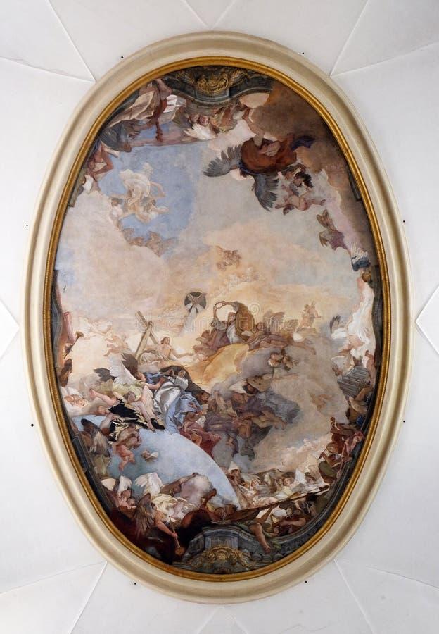 Koronacja Mary zdjęcie royalty free