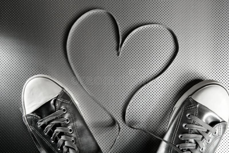 koronka butów srebro zdjęcie stock