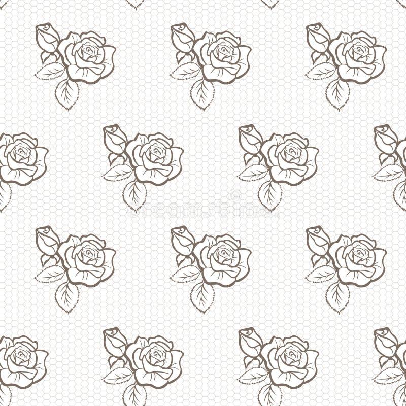 koronka elegancki wzór royalty ilustracja