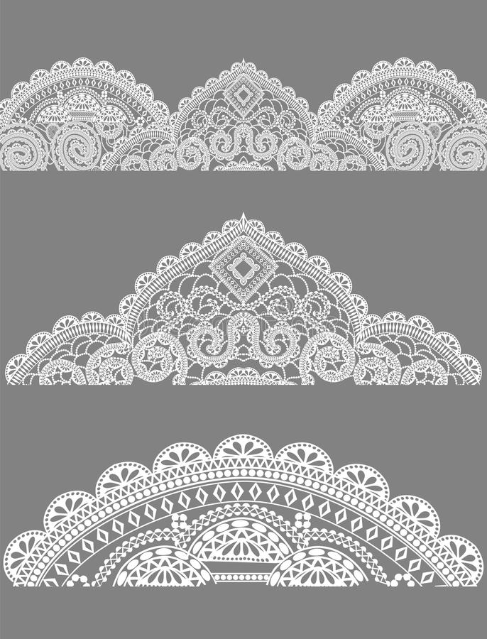 Koronka, koronkowe pieluchy royalty ilustracja