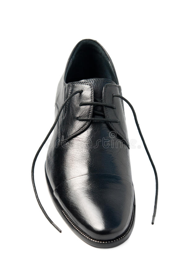 koronki obsługują jeden s buty odsupłujących zdjęcie stock