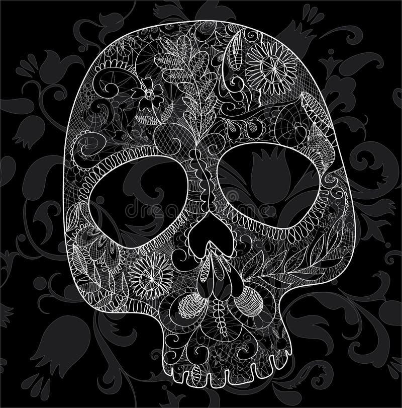 koronkowa czaszka ilustracja wektor