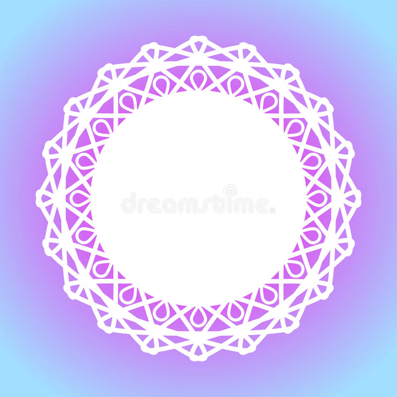 Koronkowa doily granicy ramy torta mata ilustracja wektor