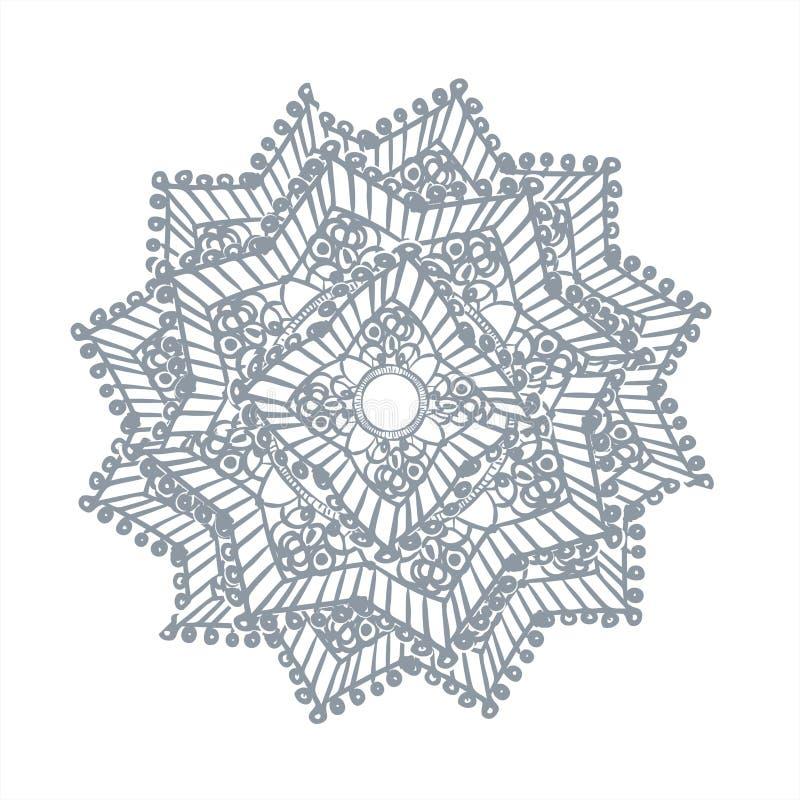 Koronkowa ramowa wektorowa dekoracyjna ręka rysujący projekta elementu tła kwadrat ilustracja wektor