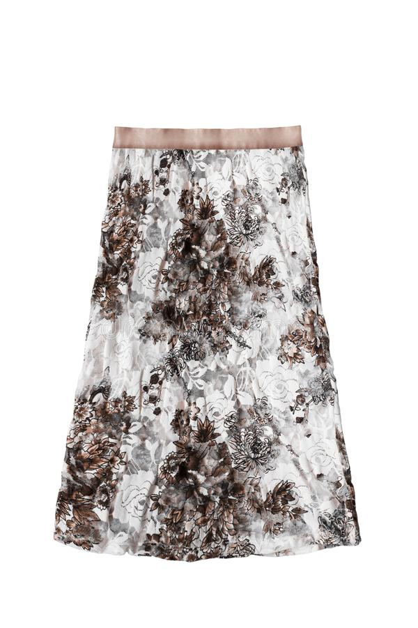 Koronkowa spódnica odizolowywająca zdjęcie stock