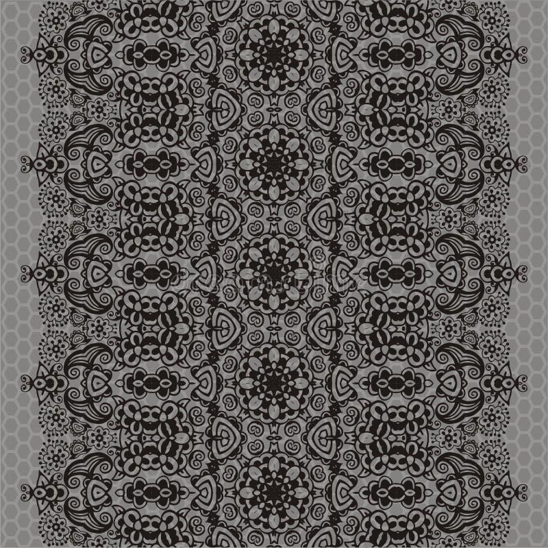 Koronkowego kwiatu rocznika bezszwowy retro adamaszkowy projekt Retro ornament może używać dla tapetowego wnętrza, płótno, szalik royalty ilustracja
