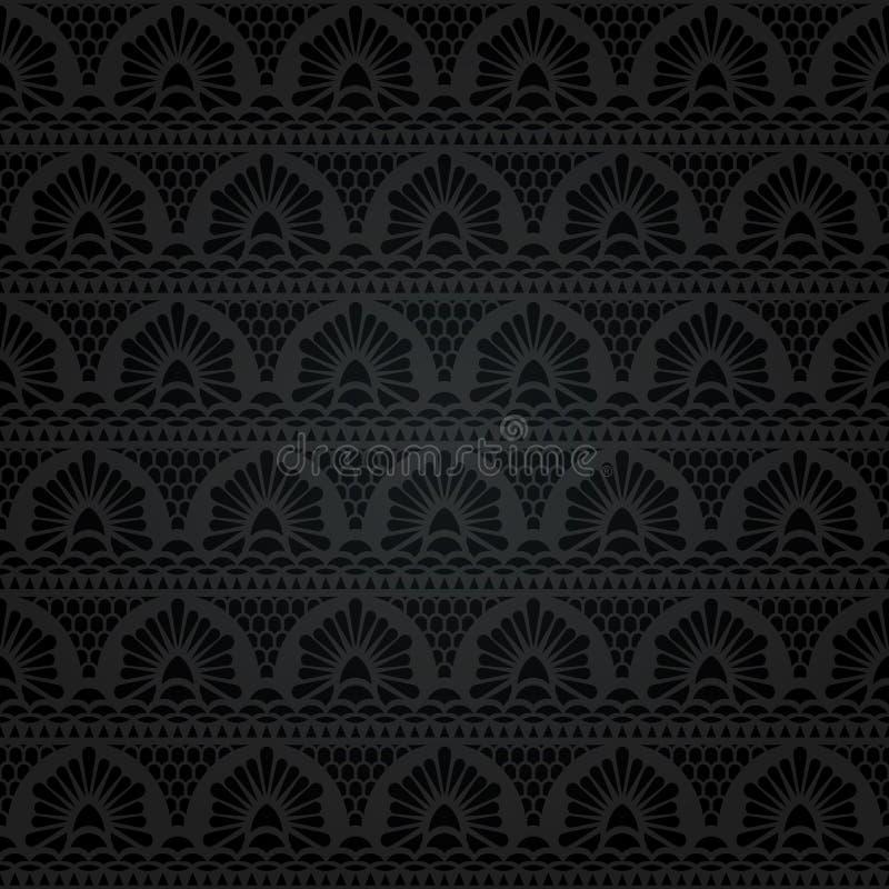 koronkowy bezszwowy abstrakcyjny kwiecisty wzór ilustracja wektor