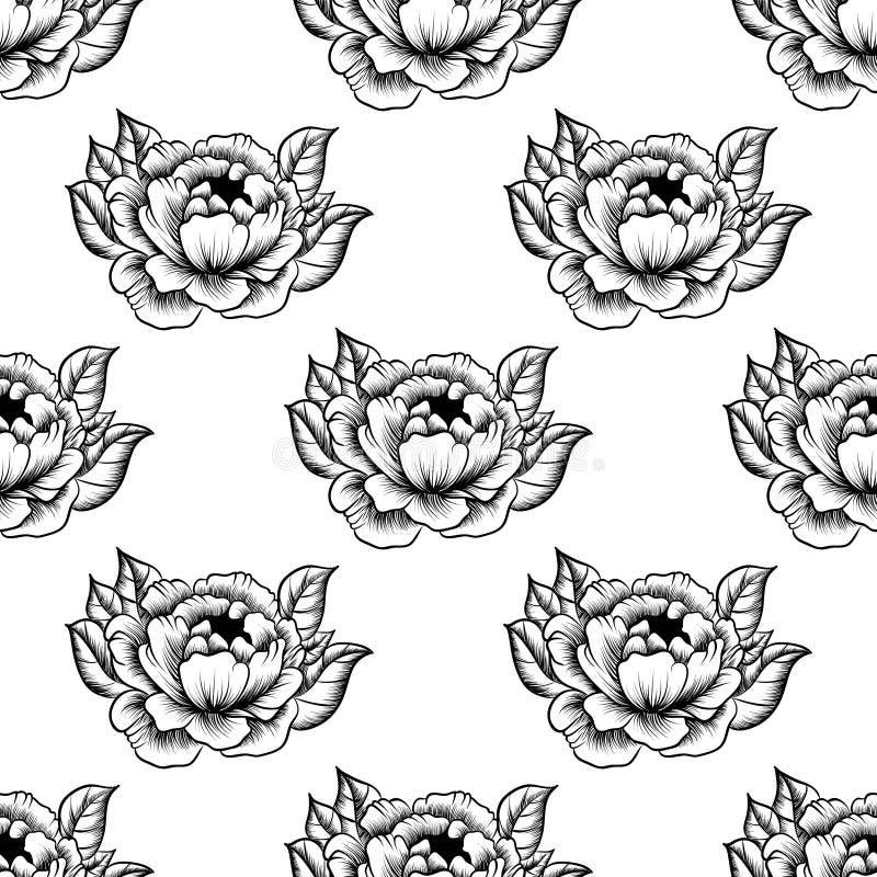 Koronkowy elegancki rocznika wzór ilustracji