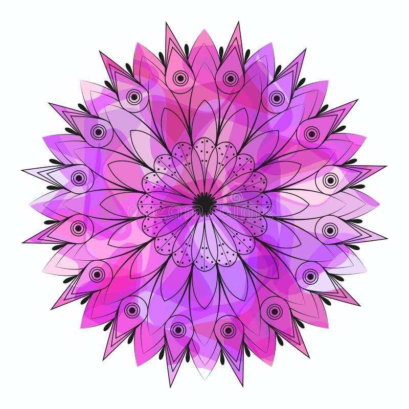 koronkowy ornamental koronkowy wzór ilustracja wektor