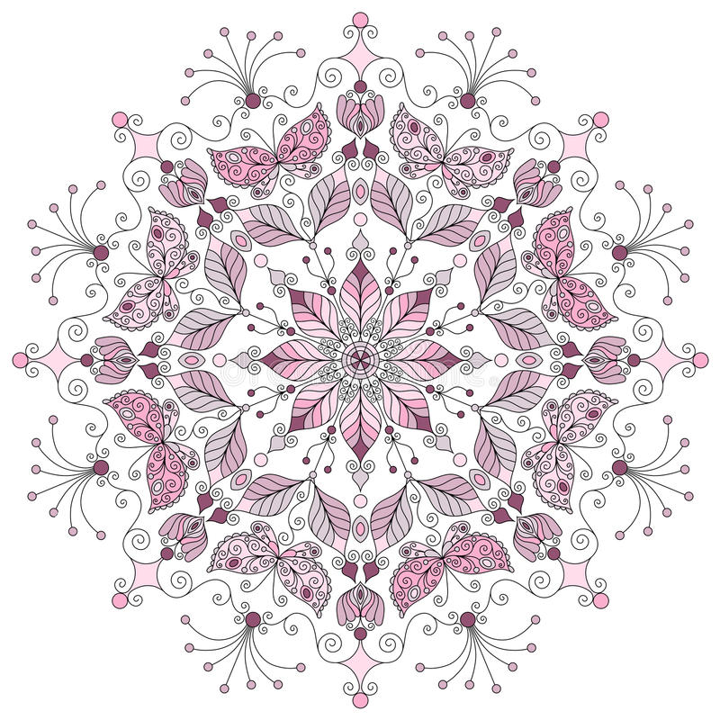 Pastelowy round wzór royalty ilustracja
