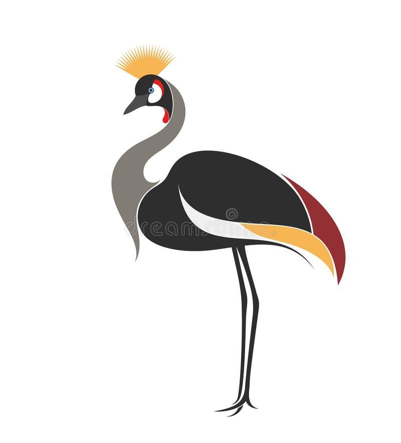 Koronowany żuraw royalty ilustracja